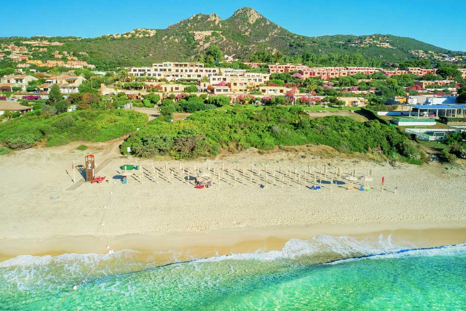 bungalow free beach residence Costa Rei